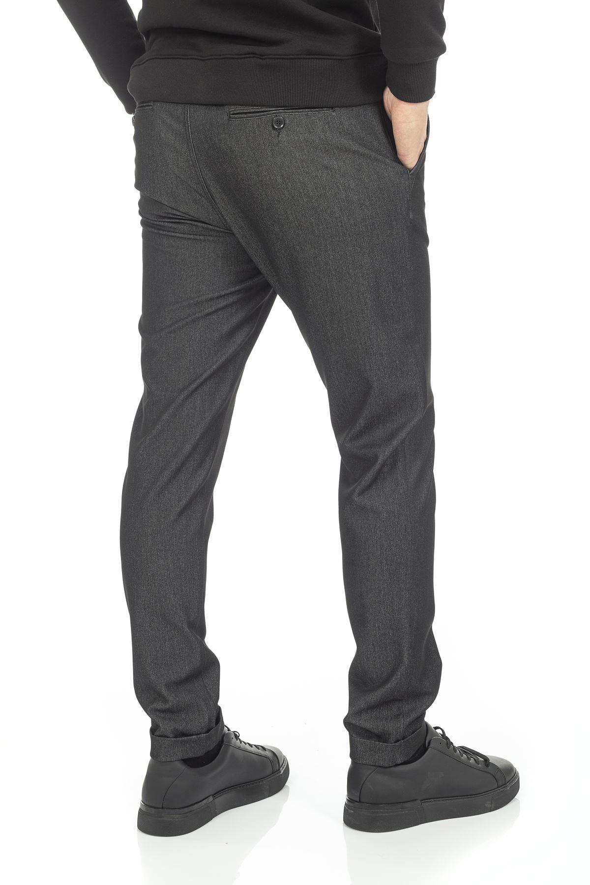 Siyah Bağcıklı Jogger Pantolon