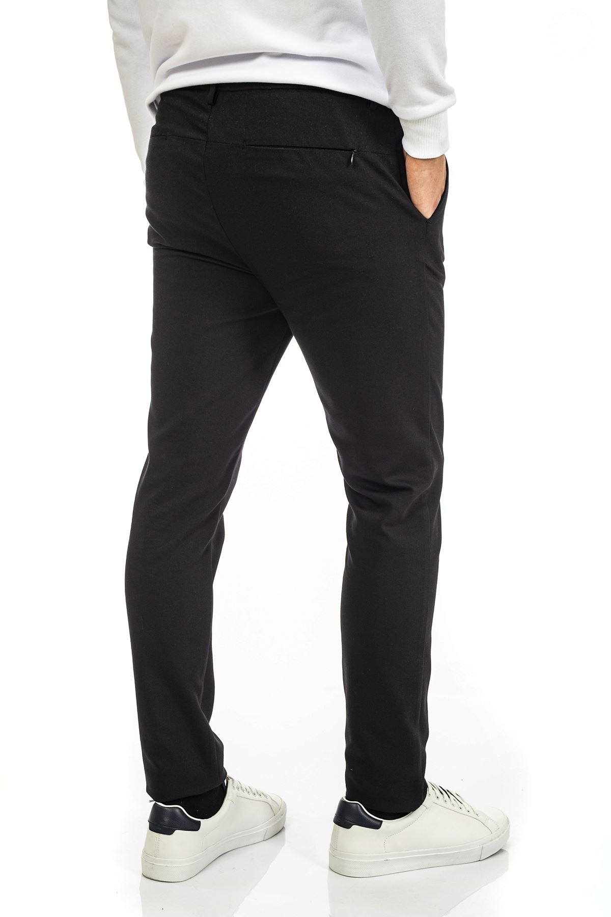 Siyah Bağcıklı Jogger Spor Pantolon