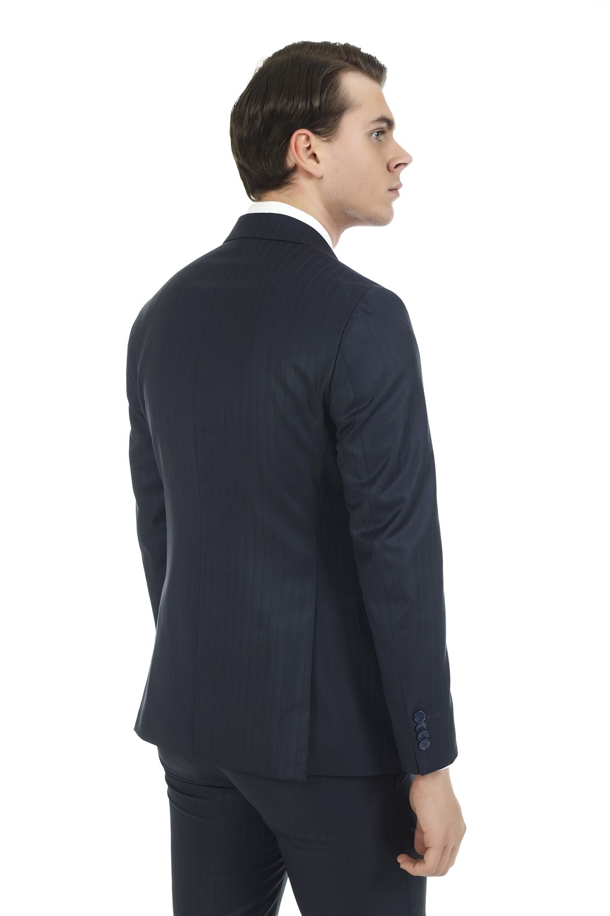 Lacivert Slim Takım Elbise