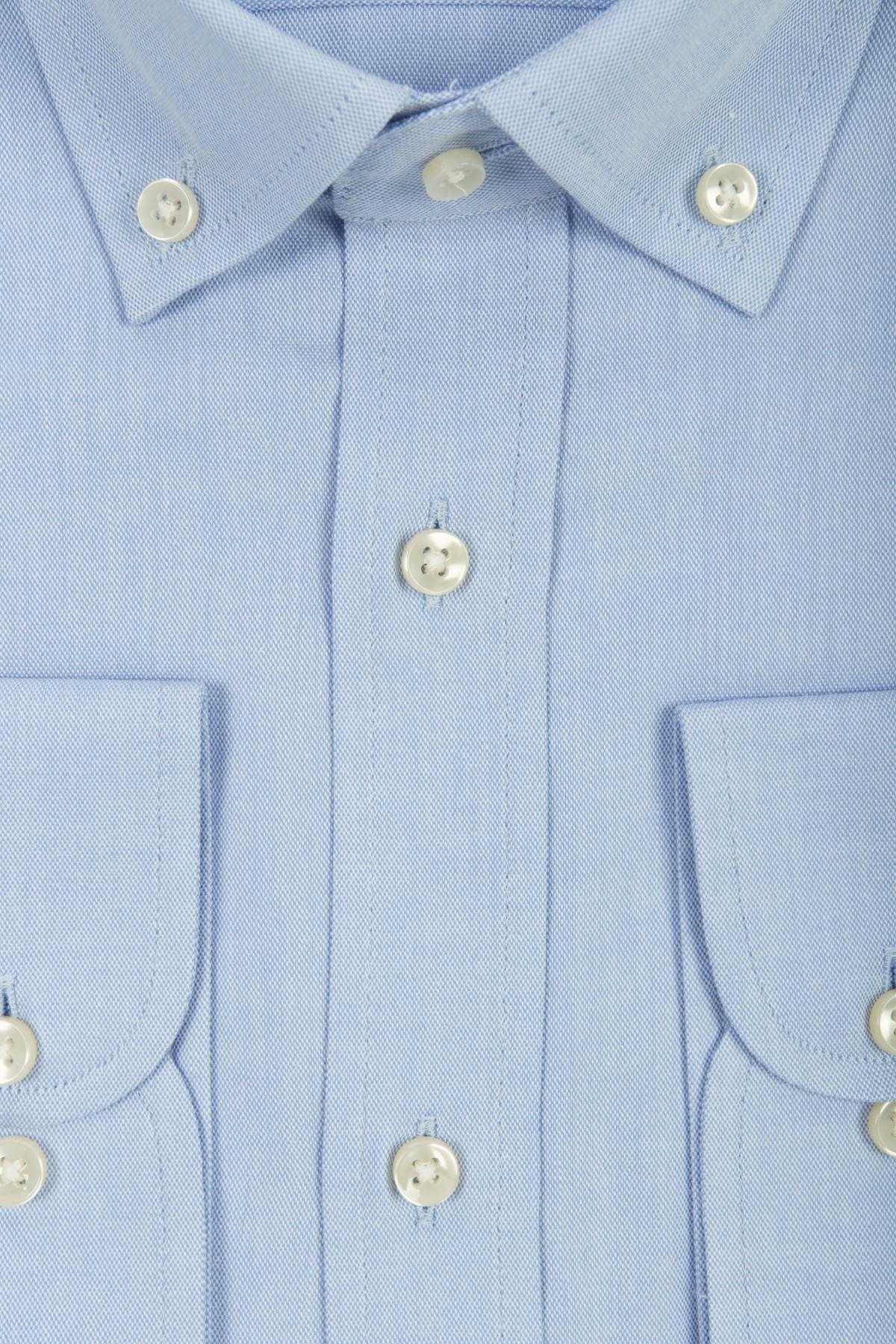 Buz Mavi Desenli Regular Gömlek