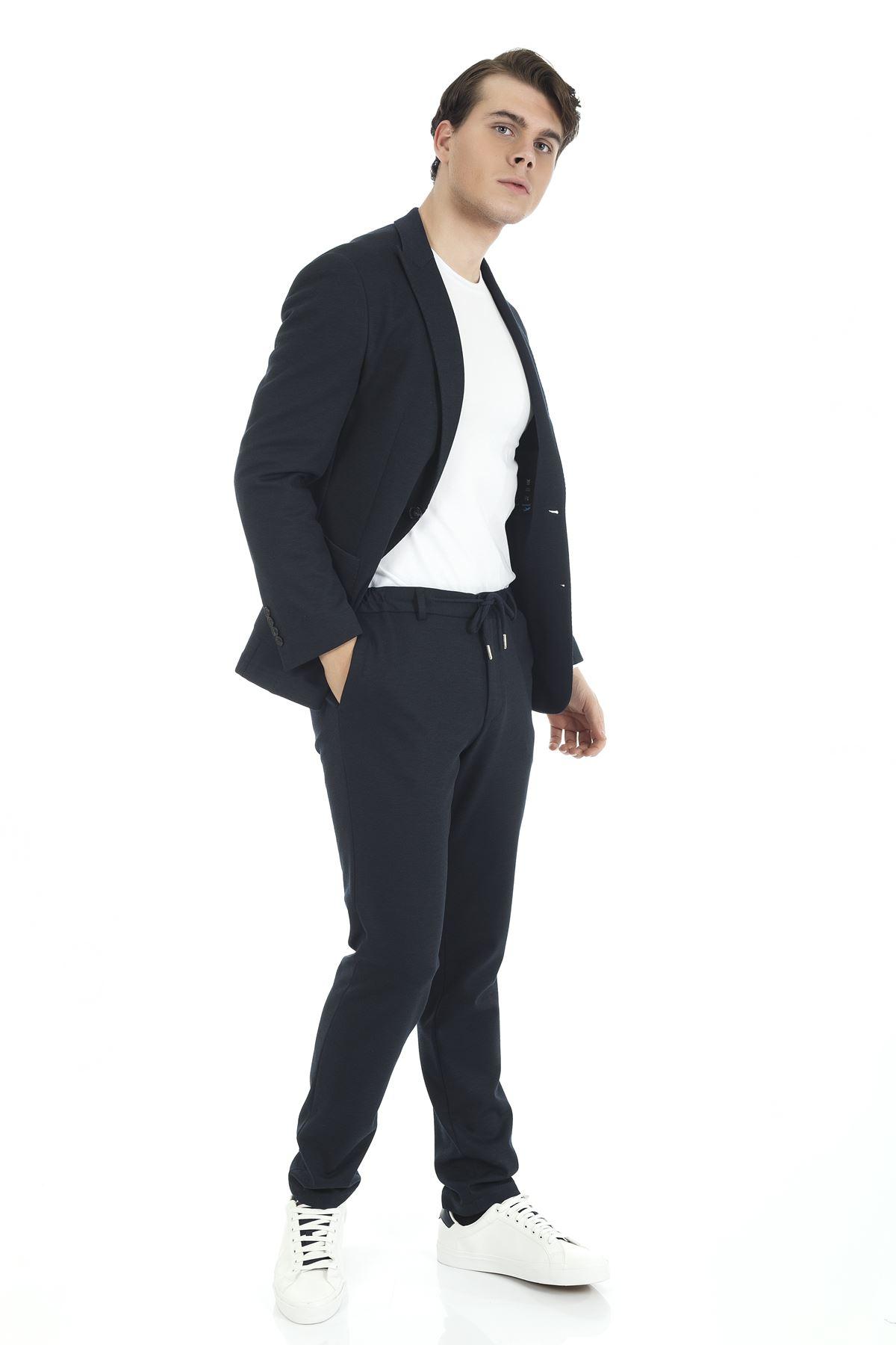 Lacivert Spor Takım Elbise