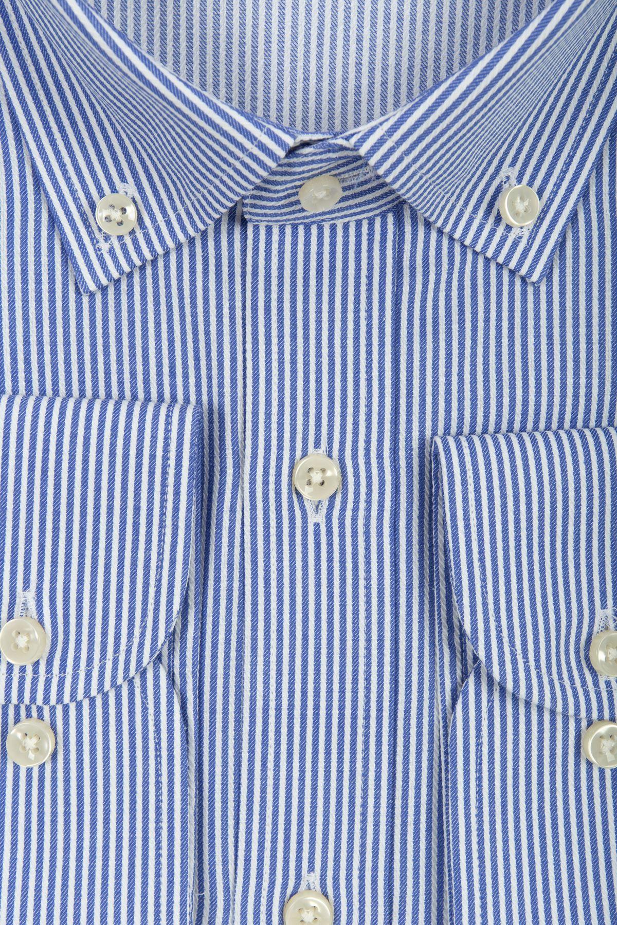 Beyaz Çizgili Lacivert Gömlek