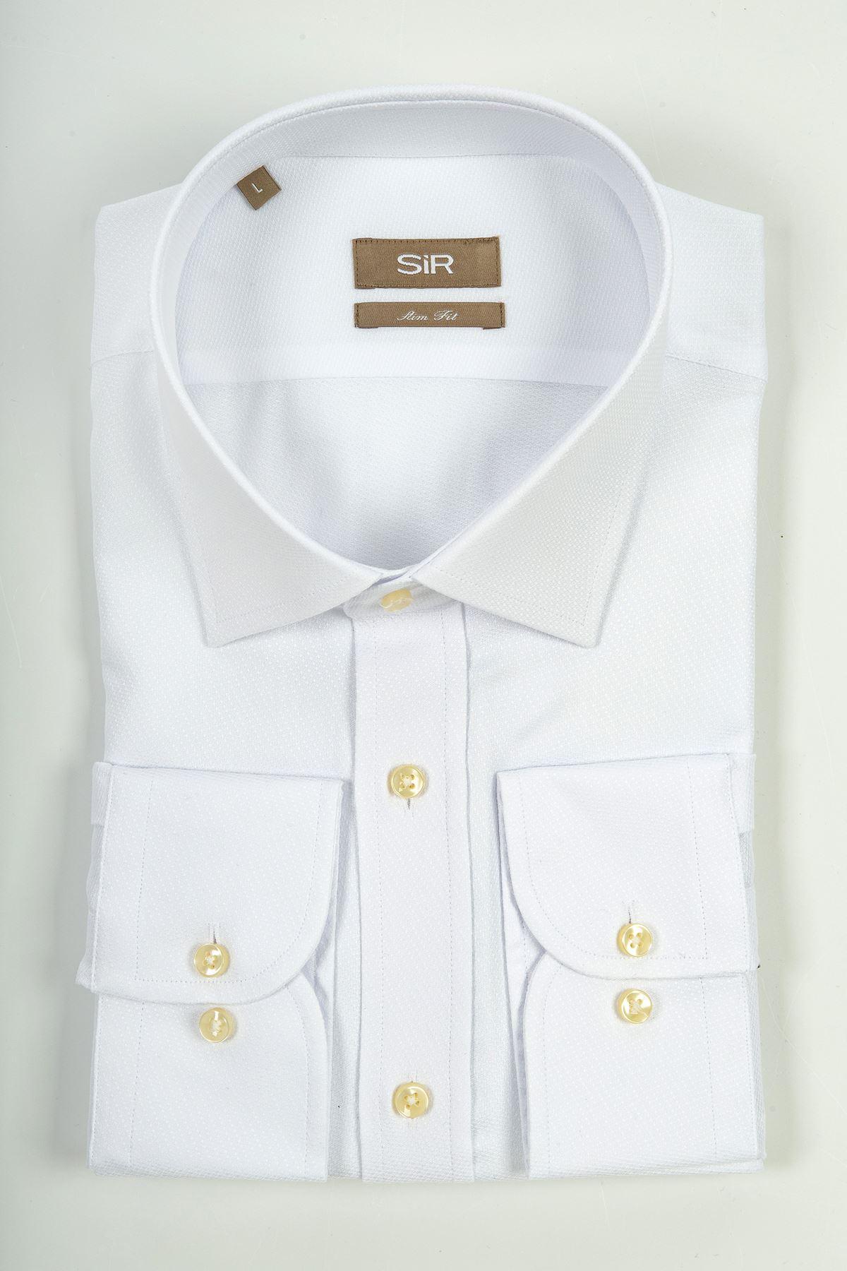 Beyaz Slim Gömlek