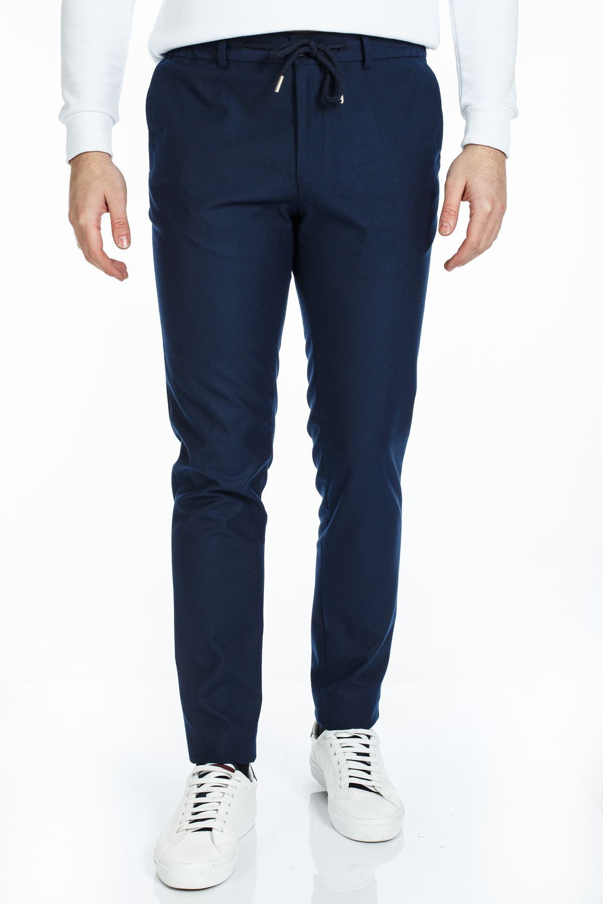 Lacivert Süper Slim Kalıp Jogger Pantolon