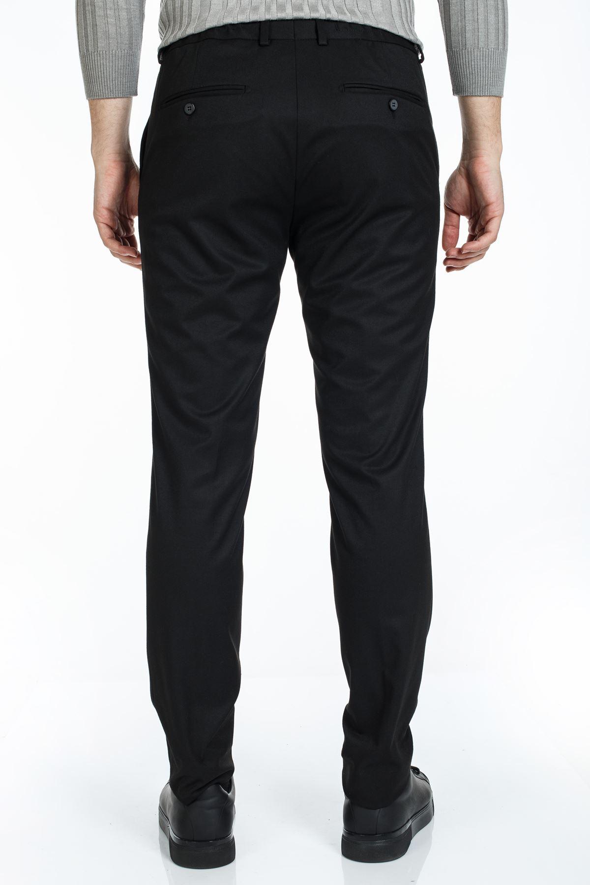 Siyah Süper Slim Kalıp Jogger Pantolon
