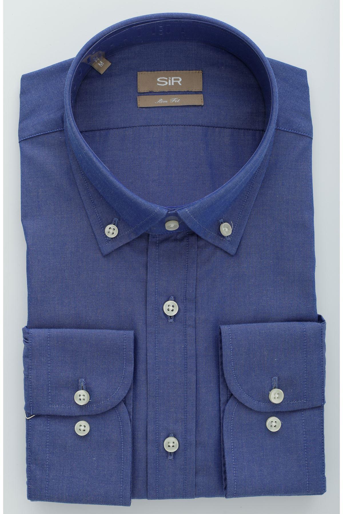 Mavi Slim Gömlek