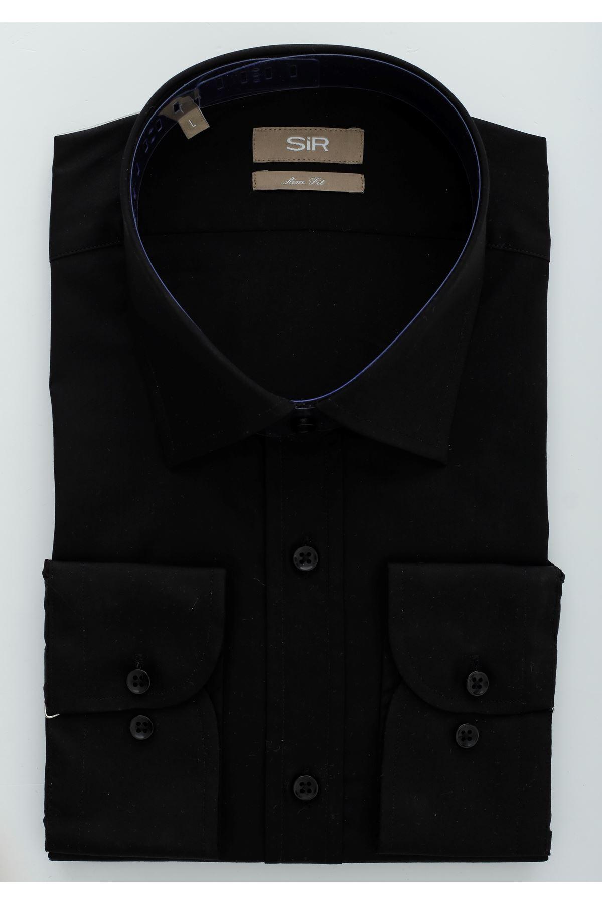 Siyah Slim Gömlek