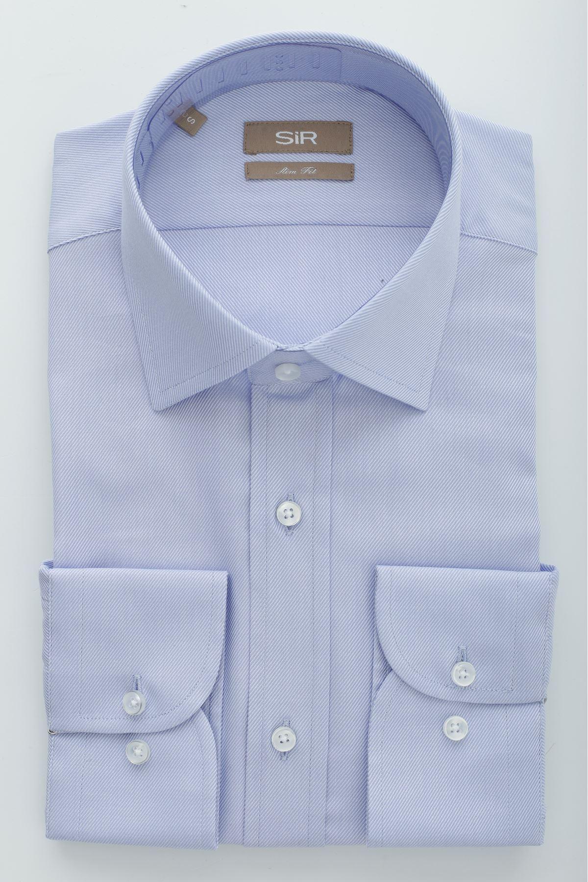 Açık Mavi Slim Gömlek