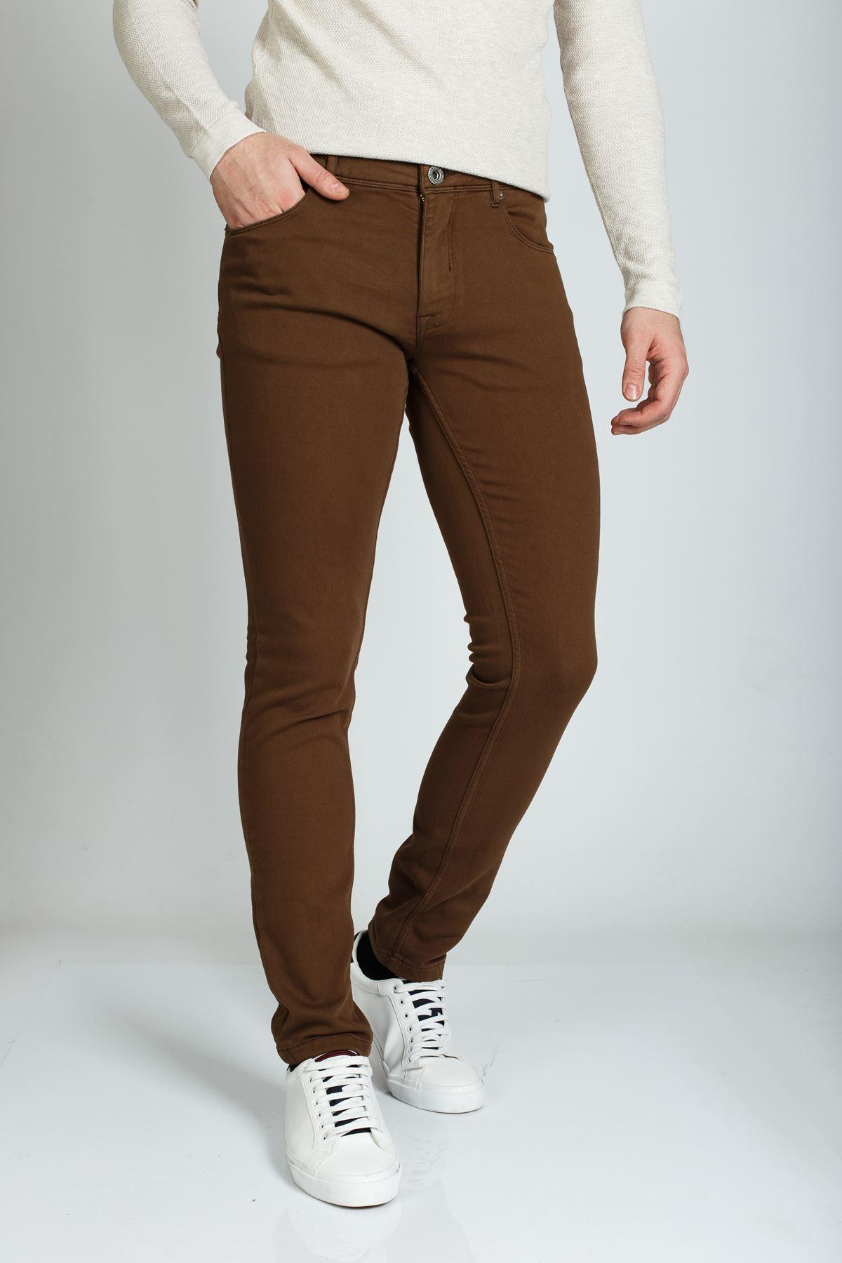 Tarçın 5 Cep Slim Canvas Pantolon