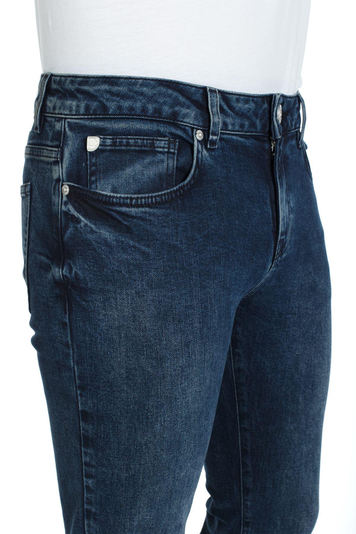 İndigo Renk Slim Kalıp Denim Kot Pantolon