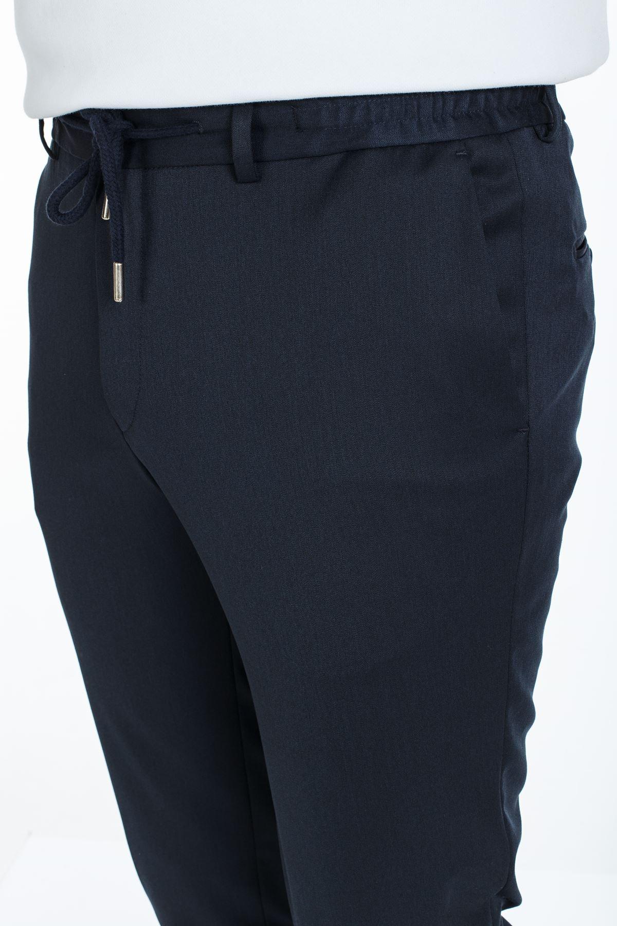 Lacivert  Süper Slim Kalıp Beli Lastikli Jogger Pantolon