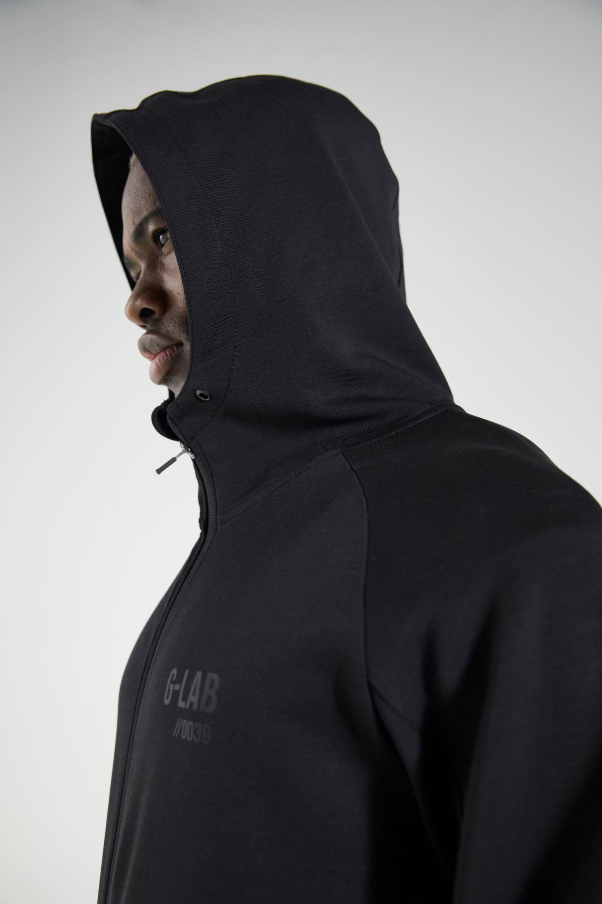 Siyah Kapüşonlu Fermuarlı Eşofman Üstü Sweatshirt