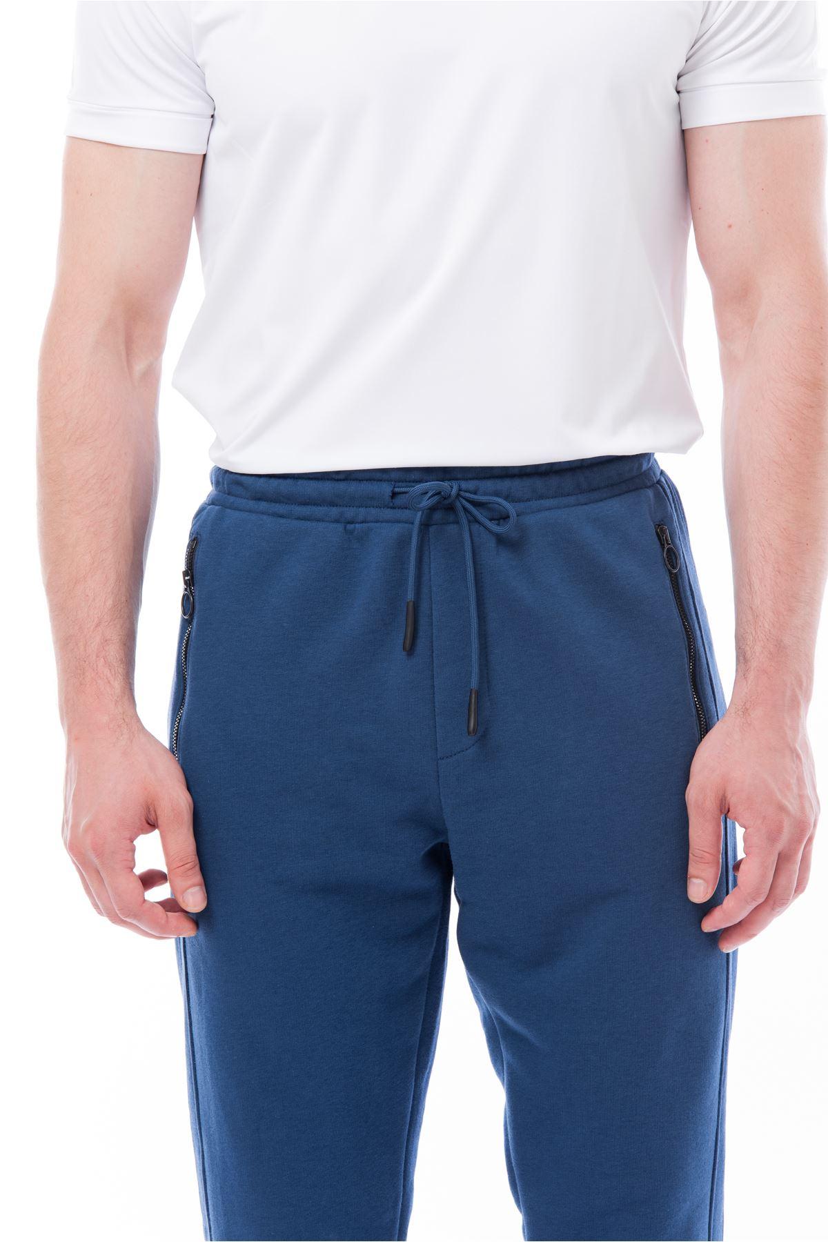 İndigo Beli Lastikli Eşofman Altı Jogger Pantolon