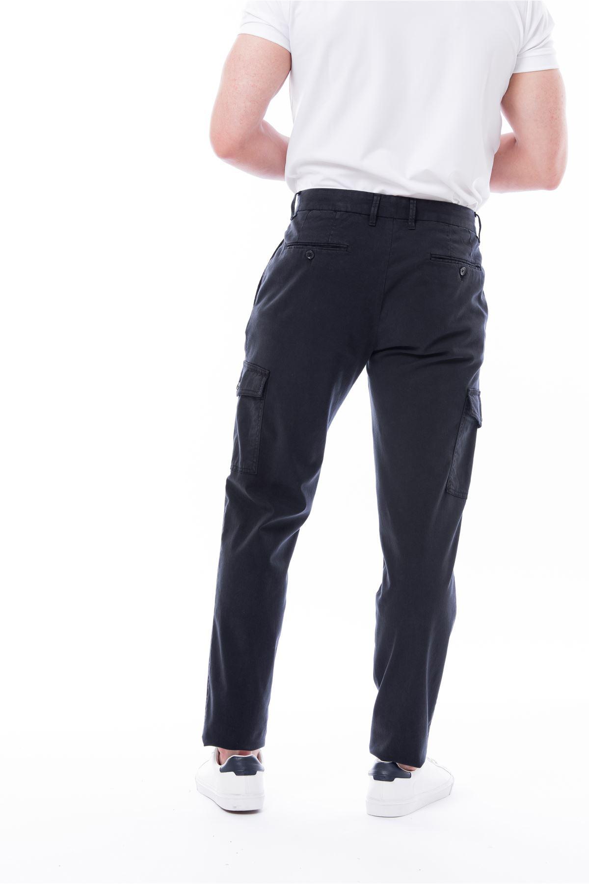 Lacivert Kargo Cep Pantolon