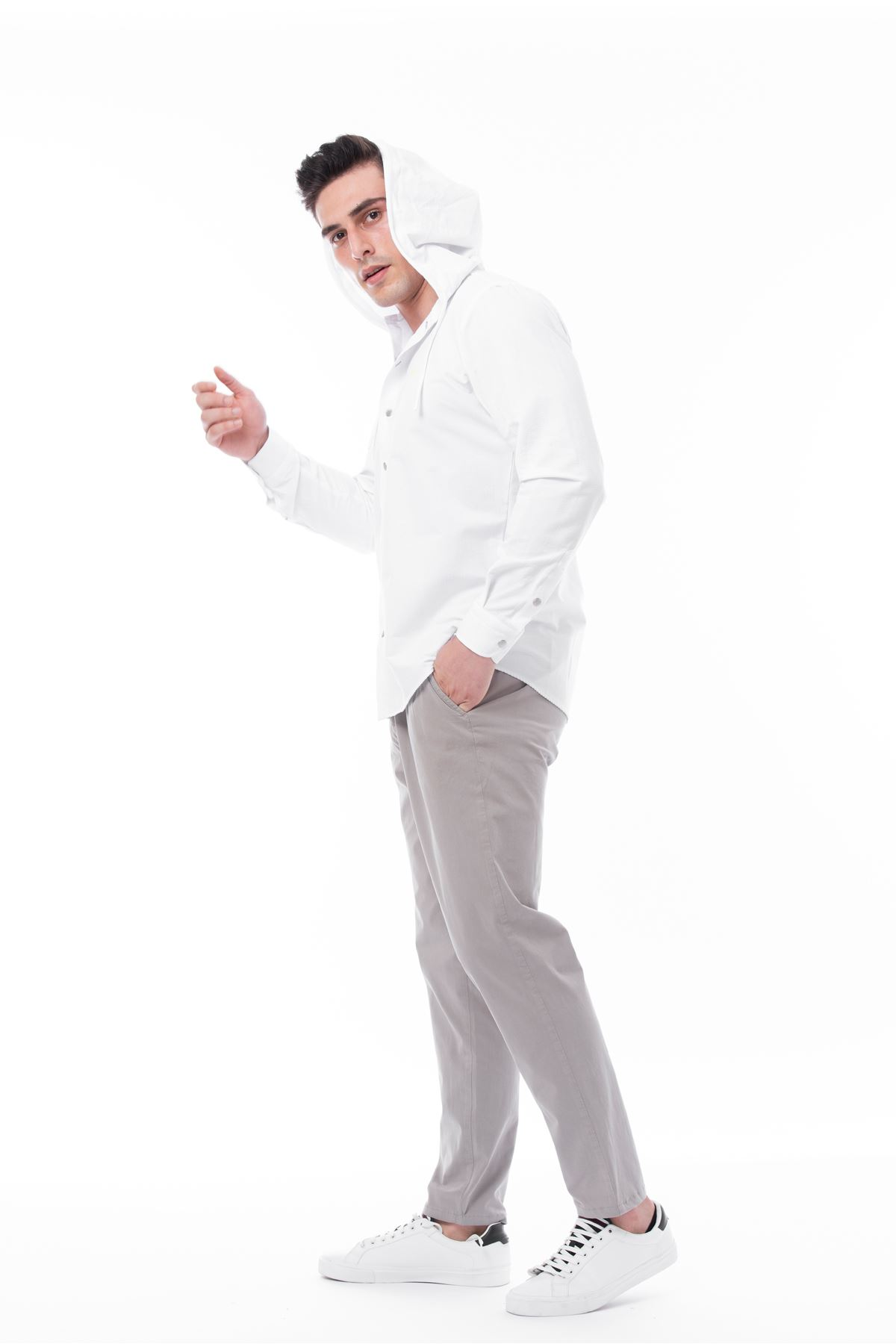 Taş Renk Beli Lastikli Bağcıklı Jogger Pantolon